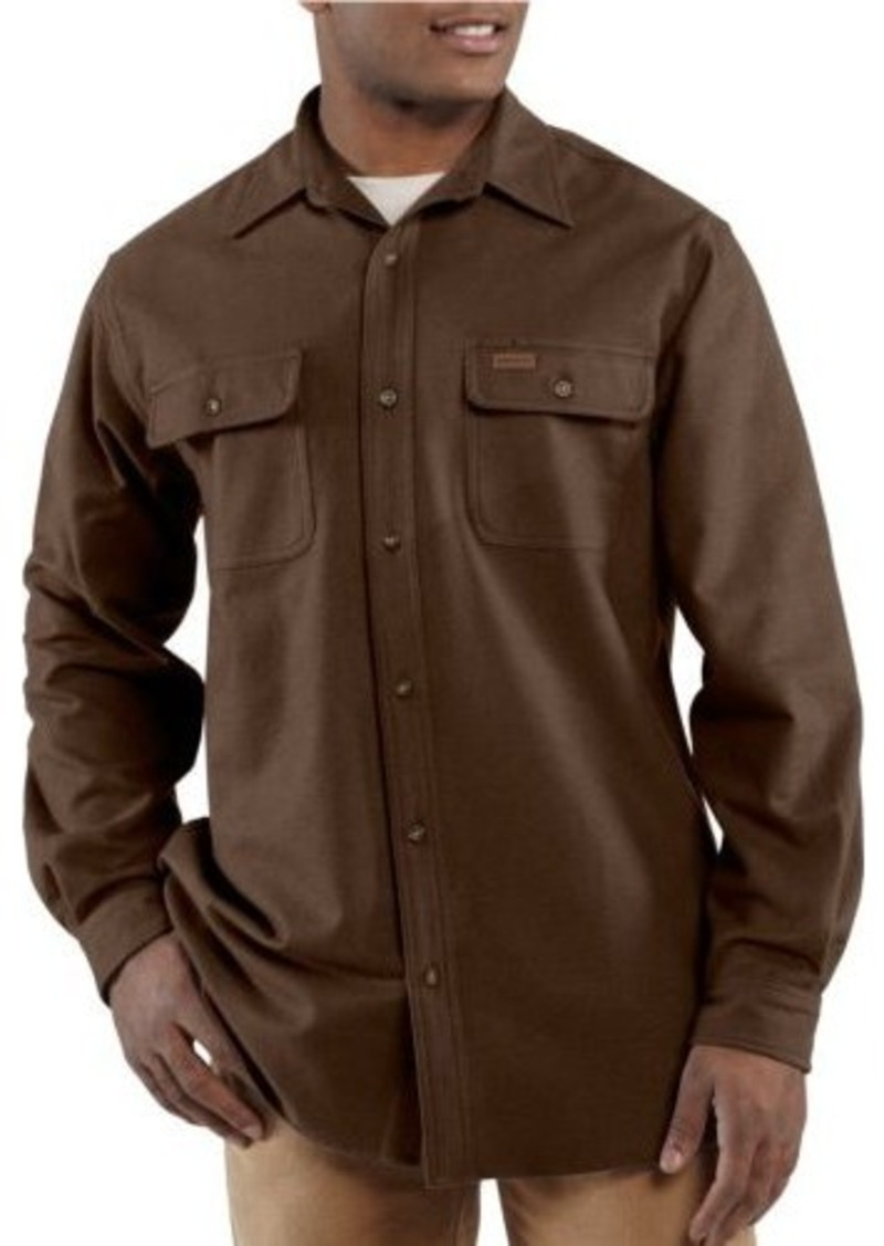 On sale today carhartt carhartt men 39 s big tall chamois for Men s tall long sleeve shirts