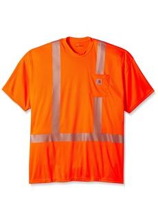Carhartt Men's Big-Tall Force High Visibility Short Sleeve Class 2 T-Shirt  Large