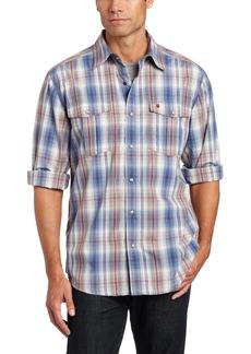 Carhartt Men's Bozeman Long Sleeve Shirt Snap Front Poplin Relaxed FitInfantry Blue  (Closeout)