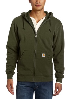 Carhartt Men's Brushed Fleece Hooded Zip Front Sweatshirt Midweight Relaxed FitForest Night  (Closeout)