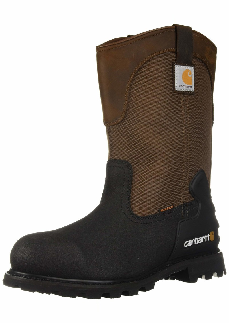 Carhartt Men's CSA 11-inch Wtrprf Insulated Work Wellington Steel Safety Toe CMR1899 Industrial Boot Brown/Black lthr  US