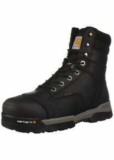 Carhartt Men's CSA 8-inch Ground Force Wtrprf Insulated Work Boot Comp Safety Toe CMR8959 Industrial black oil tanned 9 W US