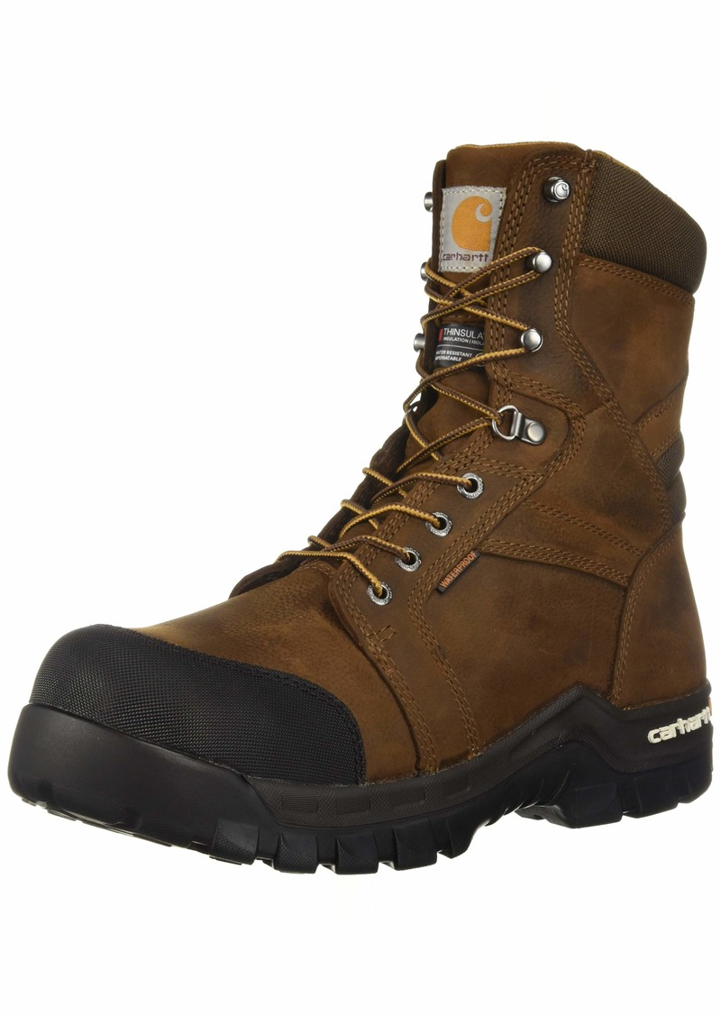 Carhartt Men's CSA 8-inch Rugged Flex Wtrprf Insulated Work Boot Comp Safety Toe CMR8939 Industrial   US