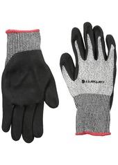Carhartt Men's Cut 2 Sandy Nitrile Dipped Glove black Heather XX-Large