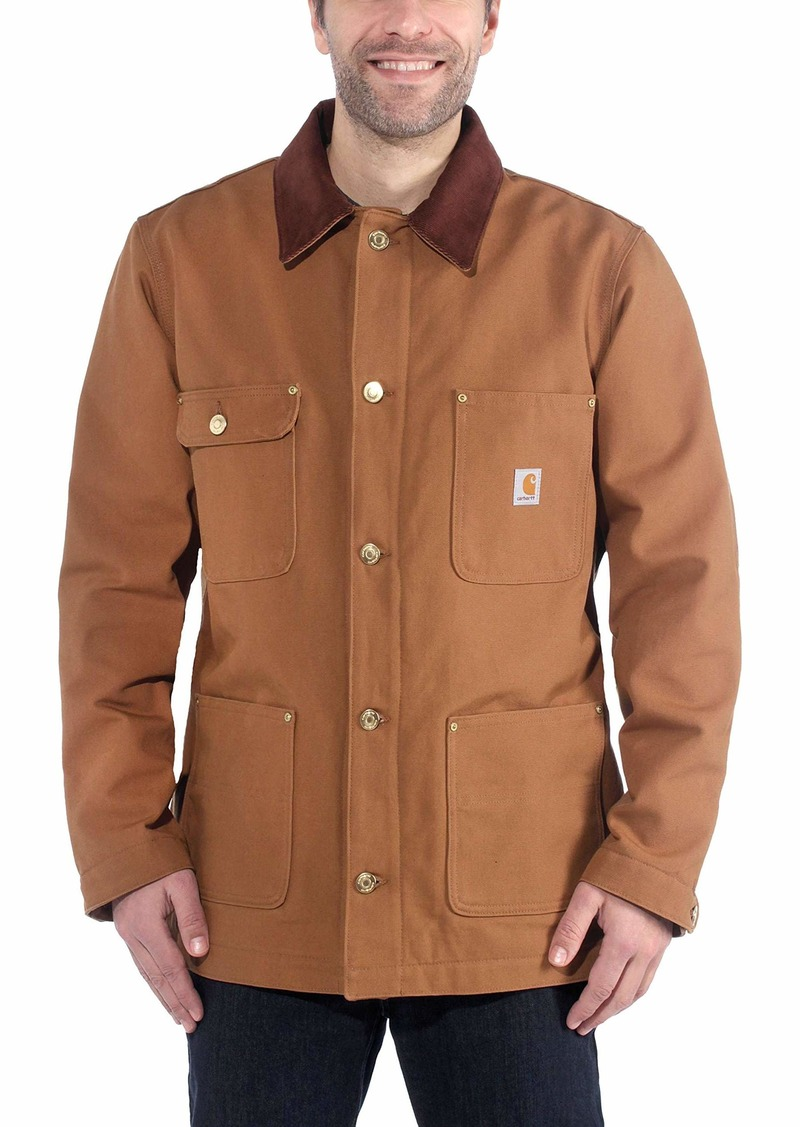 Carhartt Men's Duck Chore Jacket C001 (Regular and Big & Tall Sizes) Brown