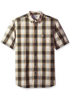 Carhartt Men's Essential Plaid Button Down Collar Short Sleeve Shirt