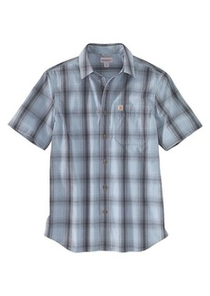 Carhartt Men's Essential Plaid Open Collar SS Shirt