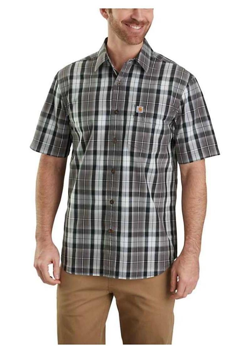 Carhartt Men's Essential Plaid Open Collar SS Shirt