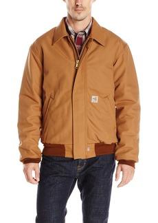 Carhartt Men's Flame-Resistant Duck Bomber Jacket Brown
