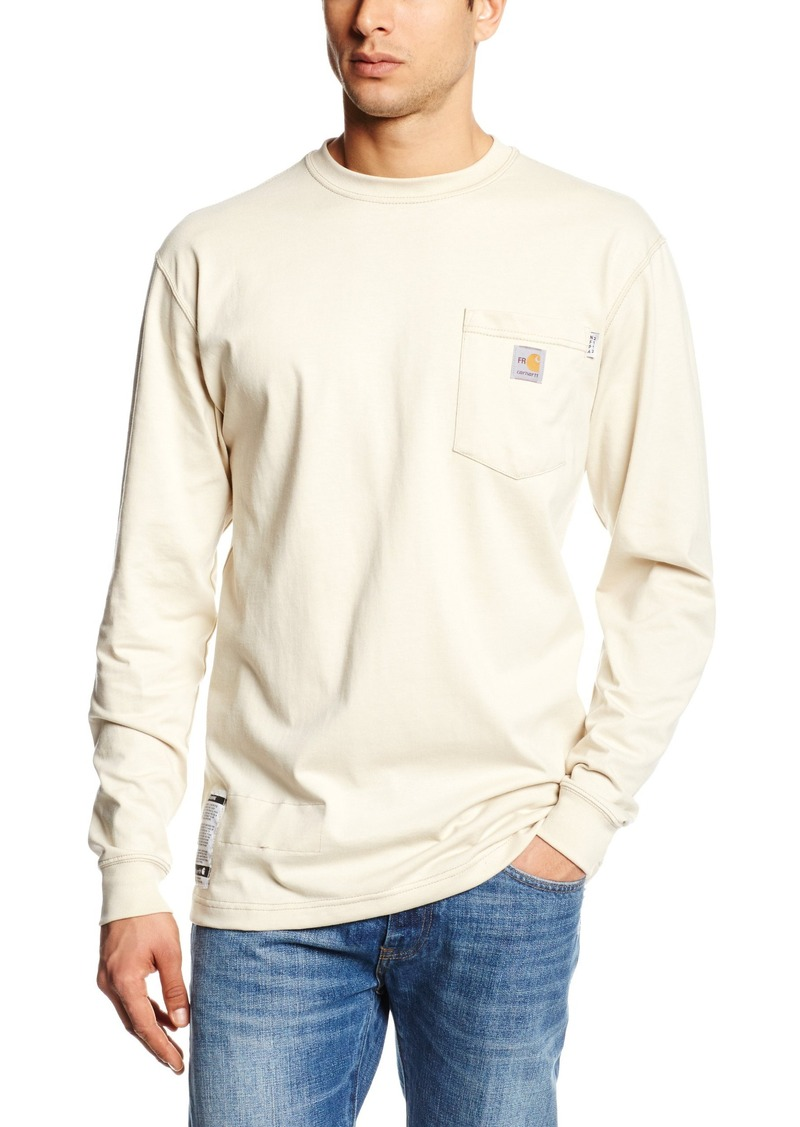 Carhartt carhartt men 39 s flame resistant force cotton long for Carhartt tee shirts sale