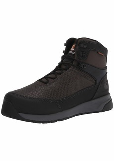 "Carhartt Men's Force 6"" Waterproof Nano Composite Toe CMA6421 Industrial Boot Black TECTUFF & Grey 1260D Nylon"