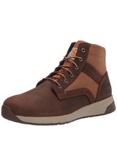 "Carhartt Men's Force 5"" Lightweight Sneaker Boot Soft Toe Ankle Brown Leather & TAN Duck"