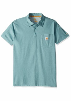 Carhartt Men's Force Cotton Delmont Pocket Polo 493-Cinderblock Heather