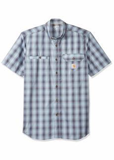 Carhartt Men's Force Ridgefield Plaid Short Sleeve Shirt (Regular and Big & Tall Sizes)  2X-Large