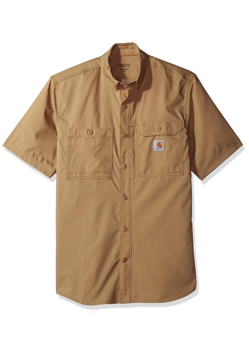 0652792a4c Carhartt Carhartt Men s Force Ridgefield Solid Short Sleeve Shirt 2X ...