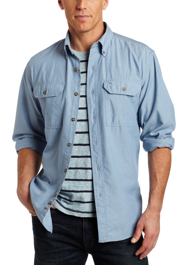 Carhartt Men's Fort Long Sleeve Shirt Lightweight Chambray Button Front Relaxed Fit