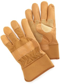 Carhartt Men's Grain Leather Work Glove with Safety Cuff