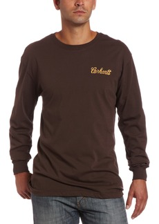 Carhartt Men's Graphic Campfire Long Sleeve T-ShirtMahogany  (Closeout)