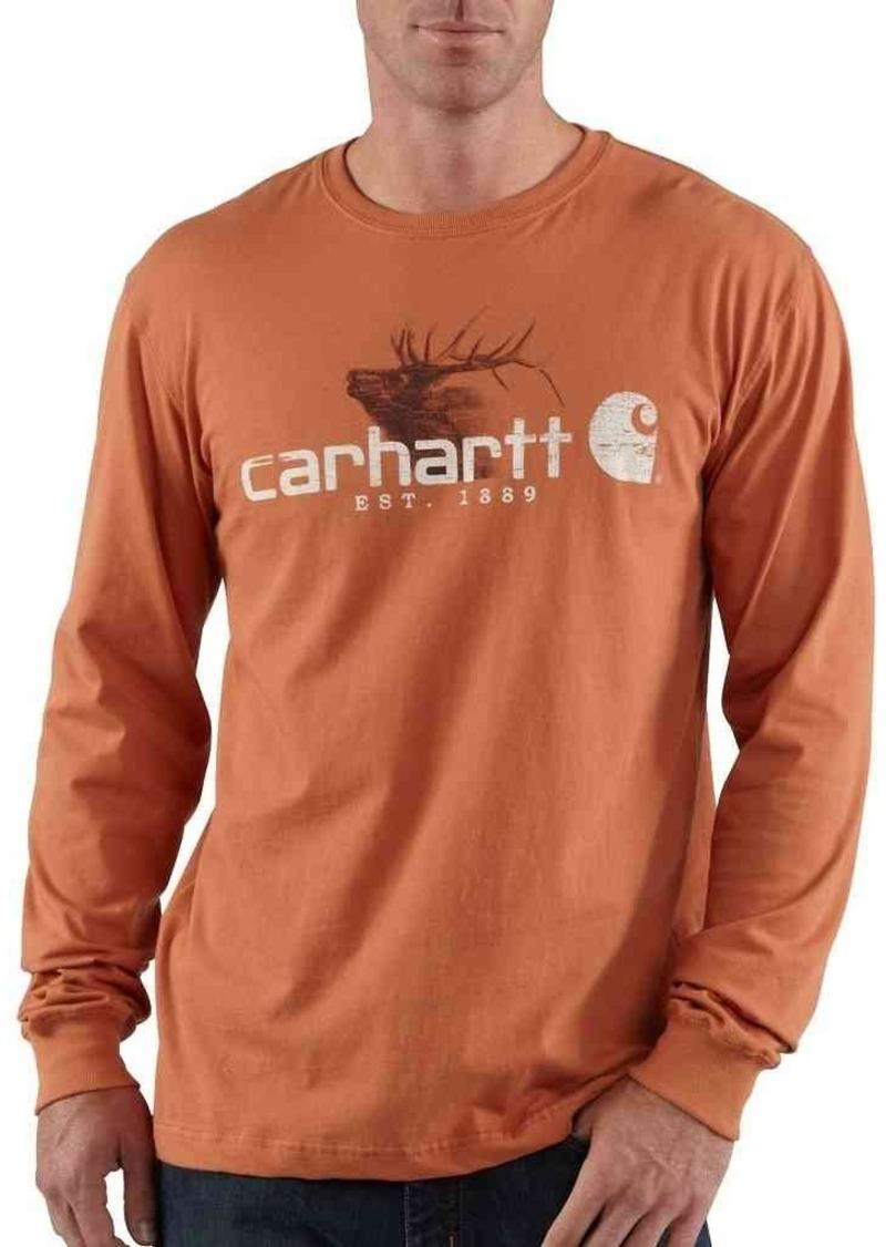 Carhartt Men's Graphic Elk Long Sleeve T-ShirtLight Sienna  (Closeout)
