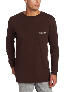 Carhartt Men's Graphic Fish Long Sleeve Pocket T-Shirt Relaxed FitDark Brown  (Closeout)