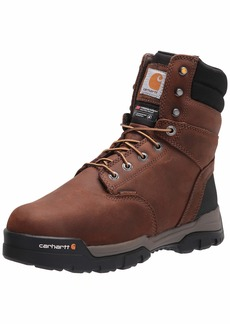 """Carhartt Men's Ground Force 8"""" Waterproof Insulated Soft Toe Boot CME8047 Construction Bison Brown Oil TAN"""