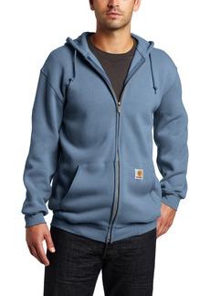 Carhartt Men's Heavyweight Sweatshirt Hooded Zip Front Original FitMineral Blue  (Closeout)