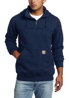 Carhartt Men's Big & Tall Hooded Zip Mock Neck Heavyweight Sweatshirt Original FitNew Navy  (Closeout)