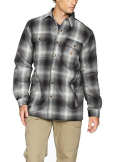 Carhartt Men's Hubbard Flannel Plaid Sherpa Lined Shirt Jac