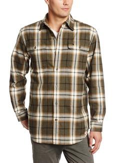 Carhartt Men's Hubbard Plaid Long Sleeve Shirt Heavyweight Flannel Original FitMoss Heather  (Closeout)