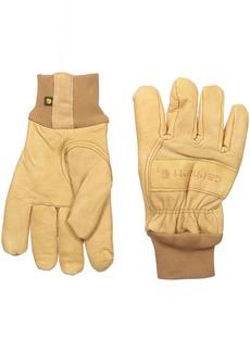 Carhartt Men's Insulated Leather Gunn Cut (Knit Cuff)  XX-Large