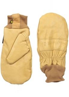 Carhartt Men's Insulated Leather Mitt (Knit Cuff)