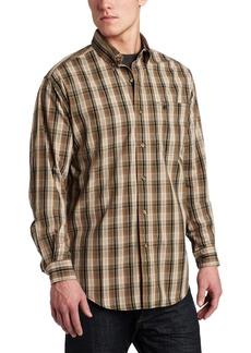 Carhartt Men's Long Sleeve Classic Plaid ShirtArmy Green  (Closeout)