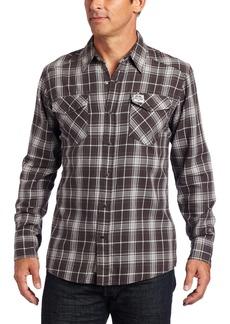 Carhartt Men's Long Sleeve Snap Front Flannel ShirtCarbon Black  (Closeout)