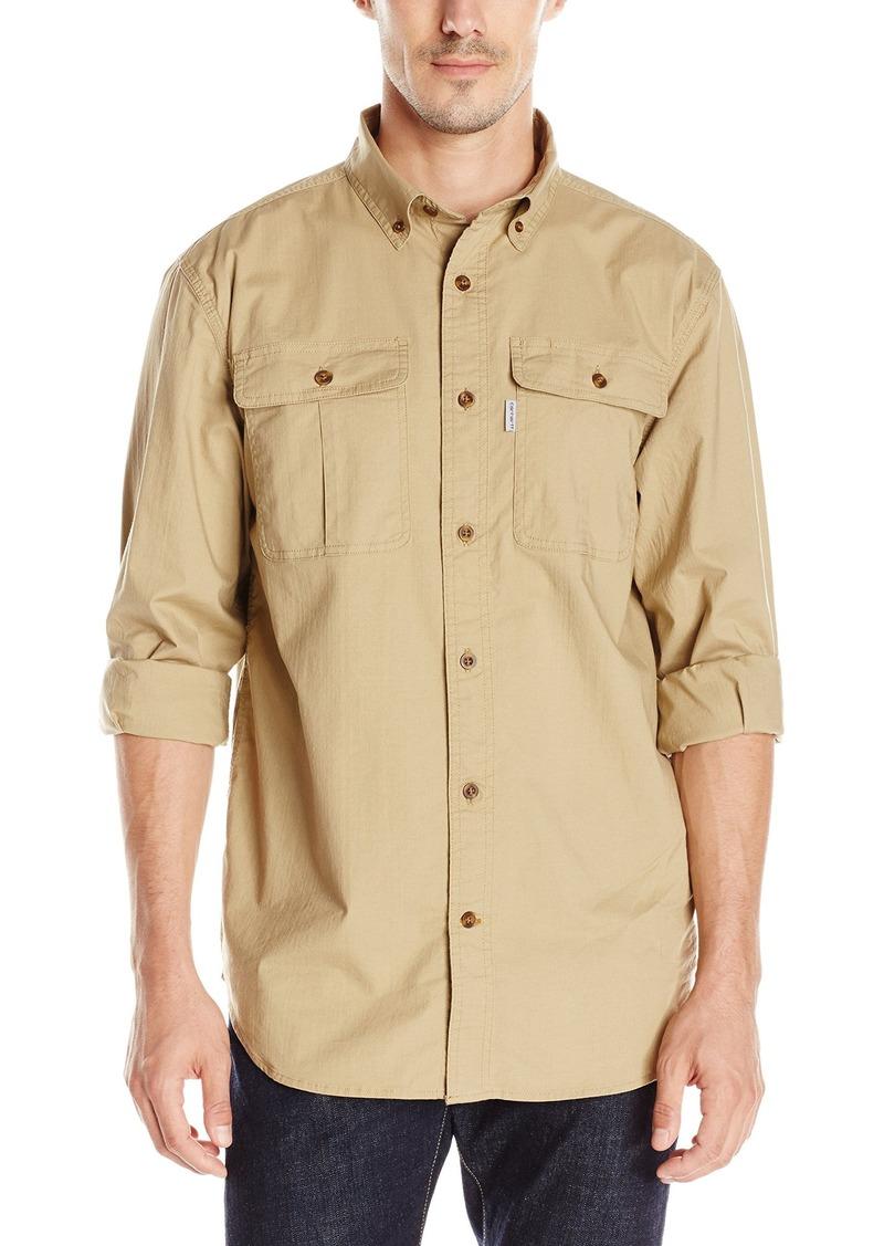 Carhartt carhartt men 39 s long sleeve solid work shirt for Carhartt men s chamois long sleeve shirt