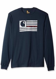 Carhartt Men's Lubbock Logo Flag Graphic Long Sleeve T Shirt