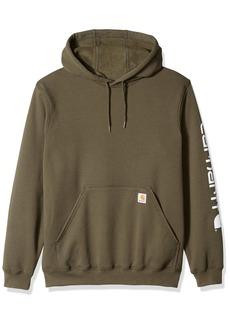 Carhartt Men's Midweight Signature Sleeve Logo Hooded Sweatshirt K288