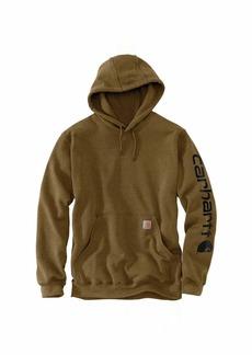 Carhartt Men's Midweight Sleeve Logo Hooded Sweatshirt (Regular and Big & Tall Sizes)  2X-Large