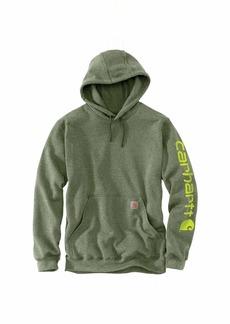 Carhartt Men's Midweight Sleeve Logo Hooded Sweatshirt (Regular and Big & Tall Sizes)  3X-Large