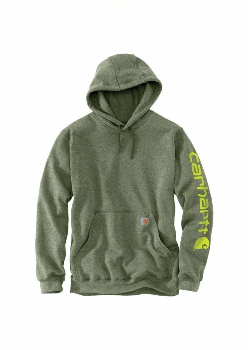Carhartt Men/'s Midweight Camo Sleeve Logo Hooded Sweatshirt Regular and Big...
