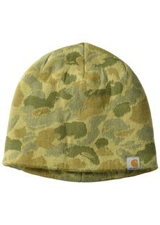 Carhartt Men's Montgomery Reversible Hat Dark Khaki Duck camo OFA