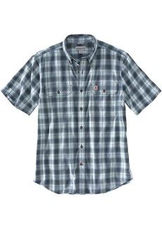Carhartt Men's Original-Fit Midweight SS Button-Front Plaid Shirt