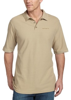 Carhartt Men's Pique Knit Short Sleeve Polo ShirtDark Tan  (Closeout)Large Tall