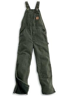 Carhartt Men's Quilt Lined Sandstone Bib Overall