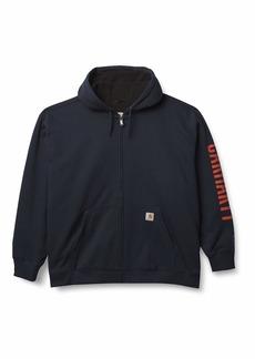 Carhartt Men's Rain Defender Original Fit Fleece Lined Logo Graphic Sweatshirt