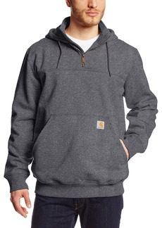 Carhartt Men's Rain Defender Paxton Heavy Weight Hooded Zip Mock Sweatshirt