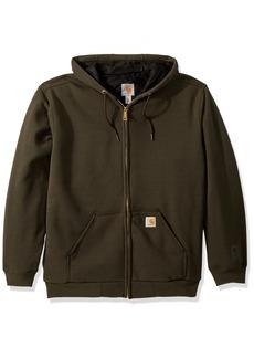 Carhartt Men's Rain Defender Rutland Thermal Lined Hooded Zip Sweatshirt peat