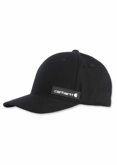 Carhartt Men's Rugged Flex Canvas Full-Back Fitted Logo Graphic Cap