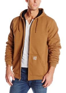 Carhartt Men's Rutland Thermal Lined Zip Front Sweatshirt Hoodie Carhartt Men's Brown