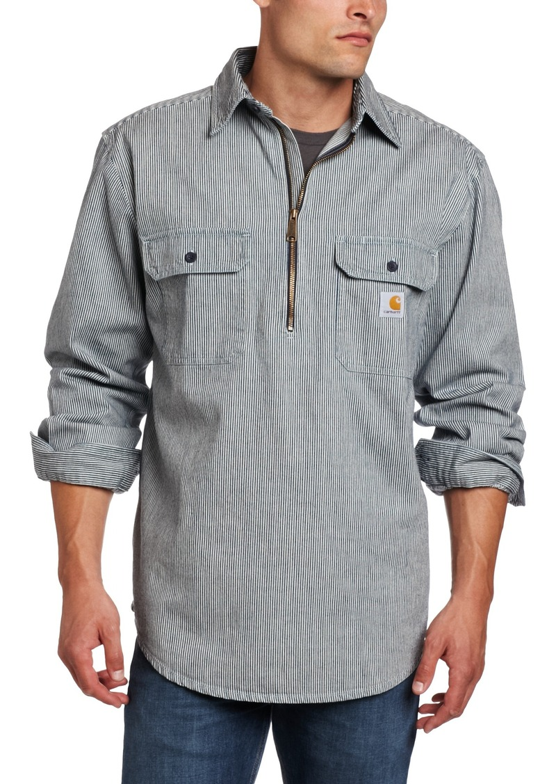 carhartt carhartt men 39 s shirt denim quarter zip casual