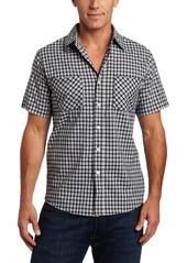 Carhartt Men's Short Sleeve Lightweight Plaid ShirtWhite  (Closeout)